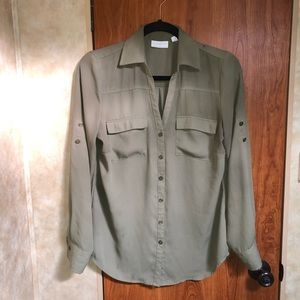 Olive Green New York & Co. Top